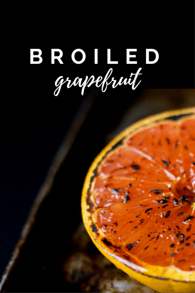 Broiled Grapefruit with a drizzle of honey gives you a fruity, slightly sweet fruit that is easy enough for breakfast or elegant enough for brunch.