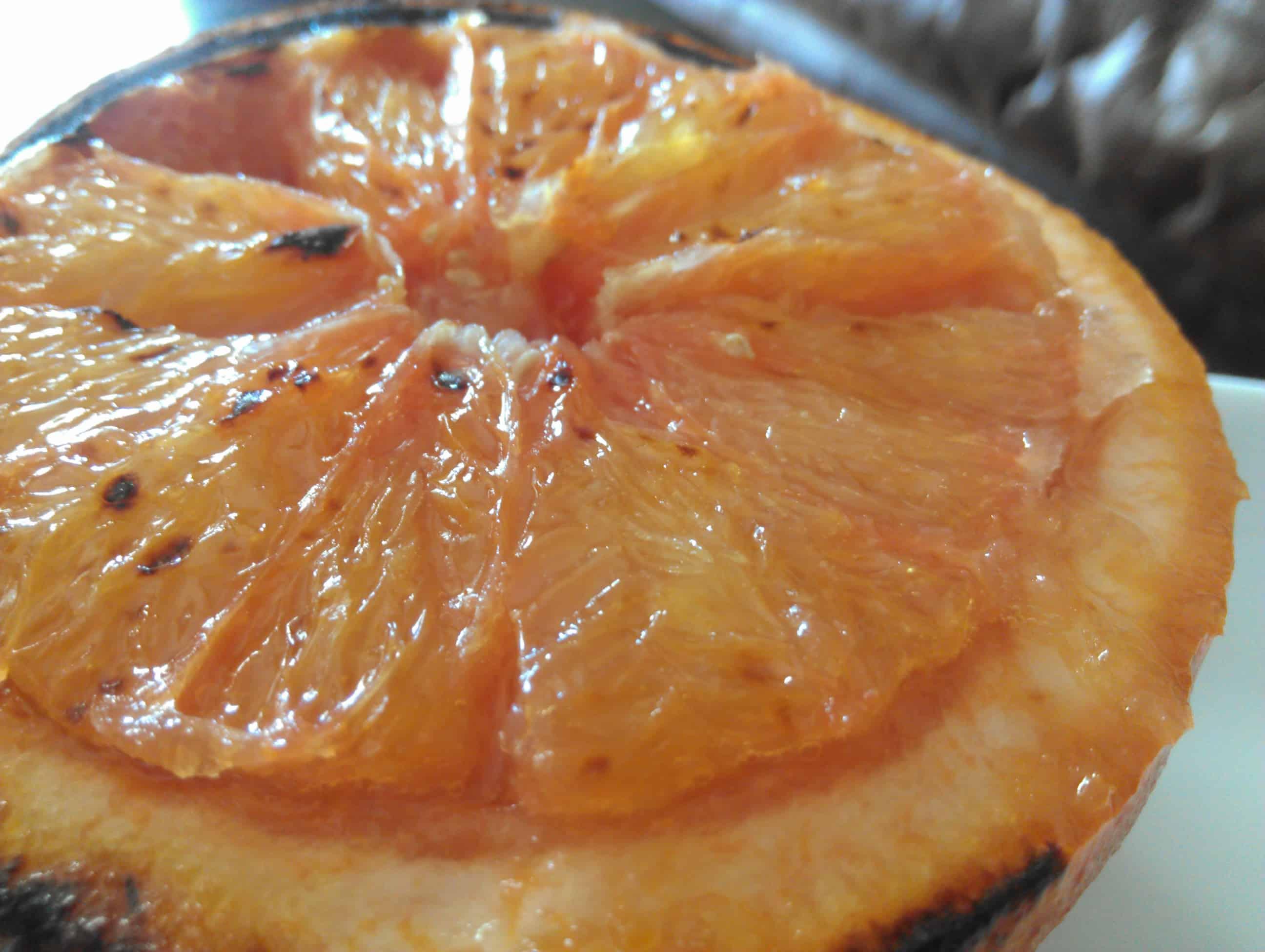 broiled grapefruit half