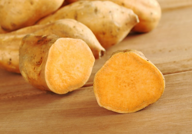 half of sweet potato