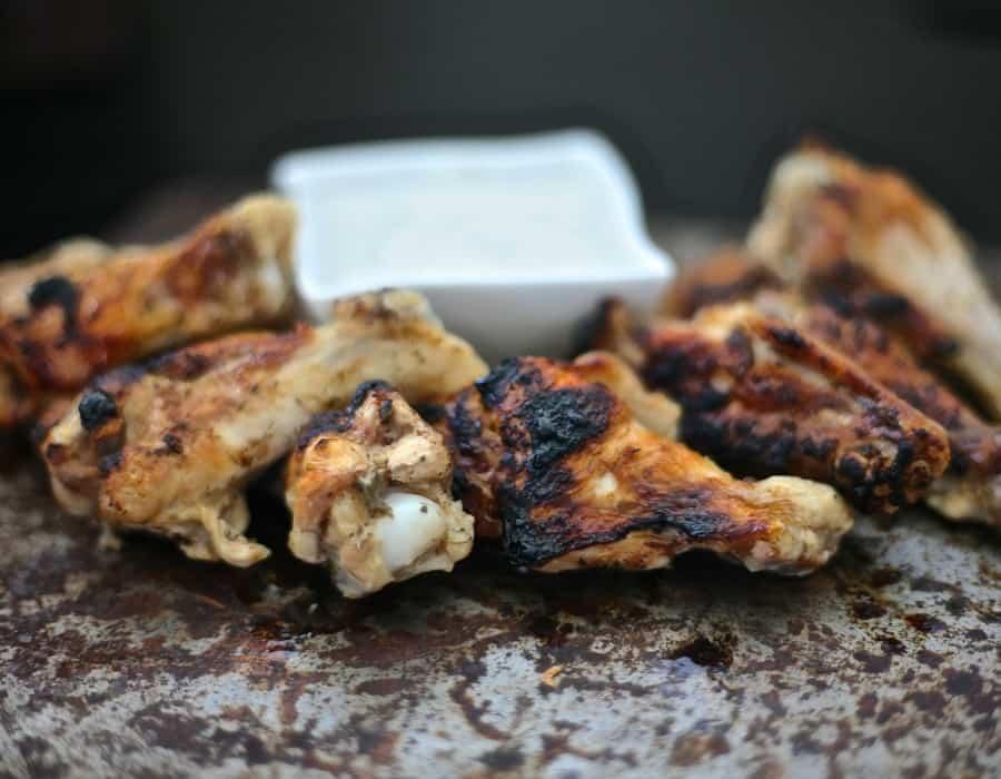 hananero chicken wings with greek yogurt ranch dip