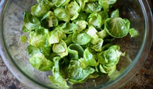 brussel sprout chips in process