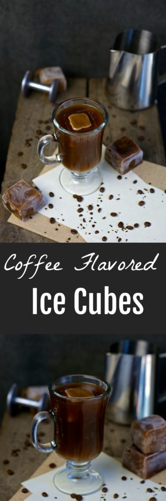These frozen coffee ice cubes make having iced coffee an extra fun treat that you can enjoy at your leisure. No more watered down iced coffee!