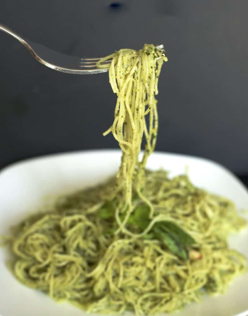 spaghetti with basil pesto sauce recipe3