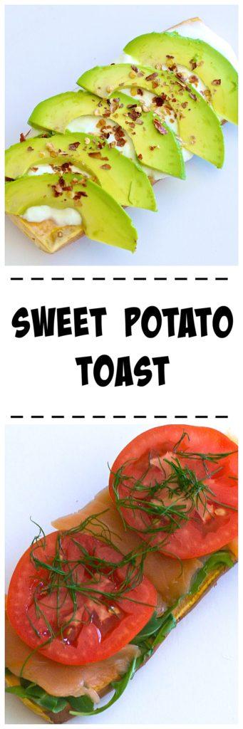 sweet potato toast recipe / thedomesticdietitian.com