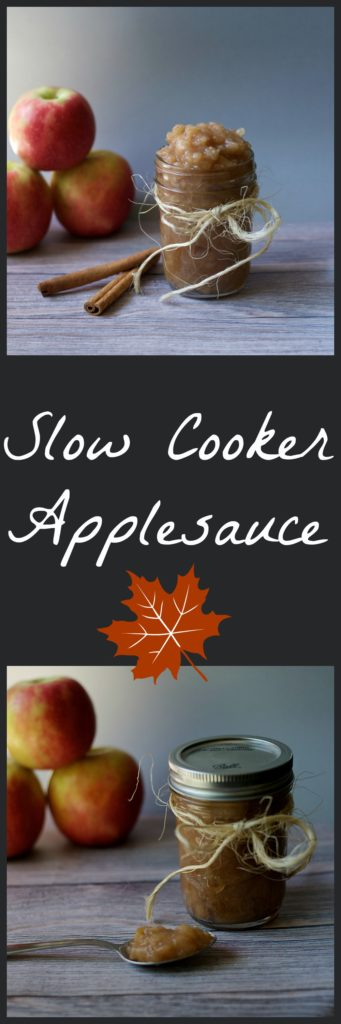 Slow Cooker Applesauce Recipe - fall favorite with no added sugar! / The Domestic Dietitian