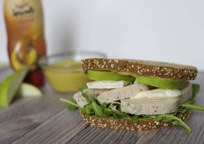 roasted turkey brie apple sandwich
