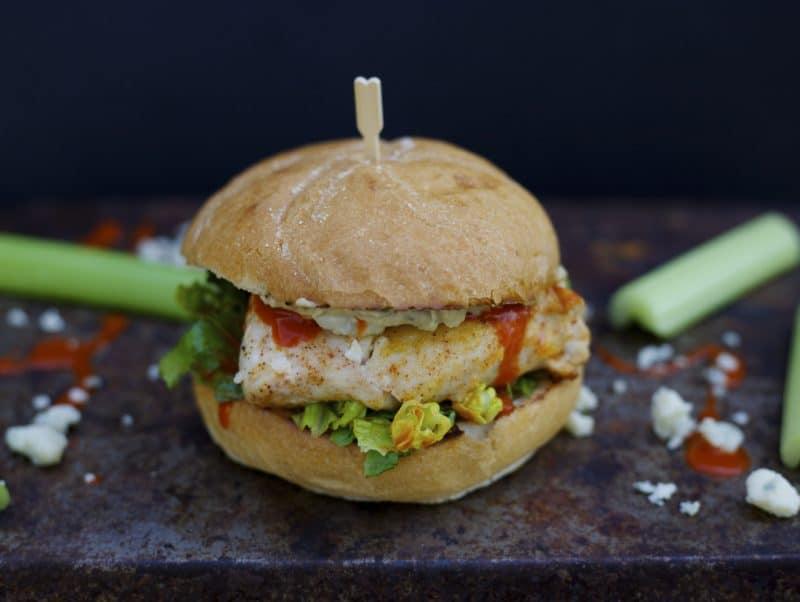 Lighter Buffalo Chicken Sandwich