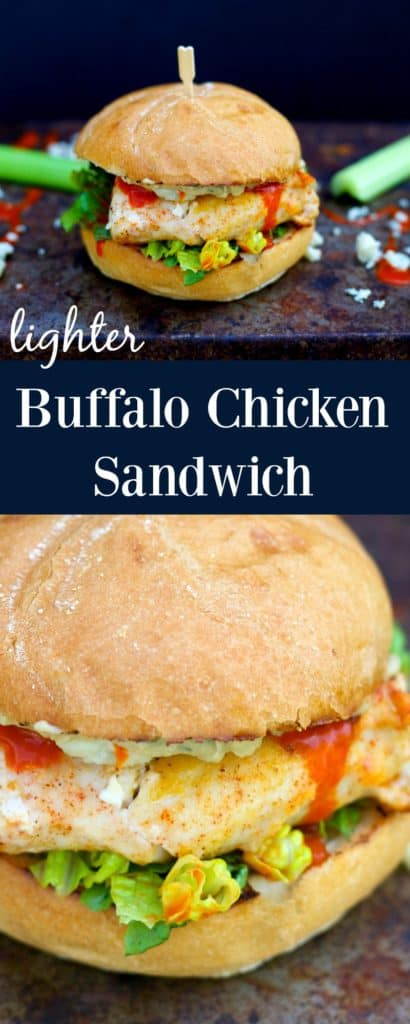 Lighter Buffalo Chicken Sandwich featuring Sabra Spreads #sponsored