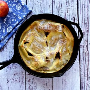 apple dutch baby via the foodie physician