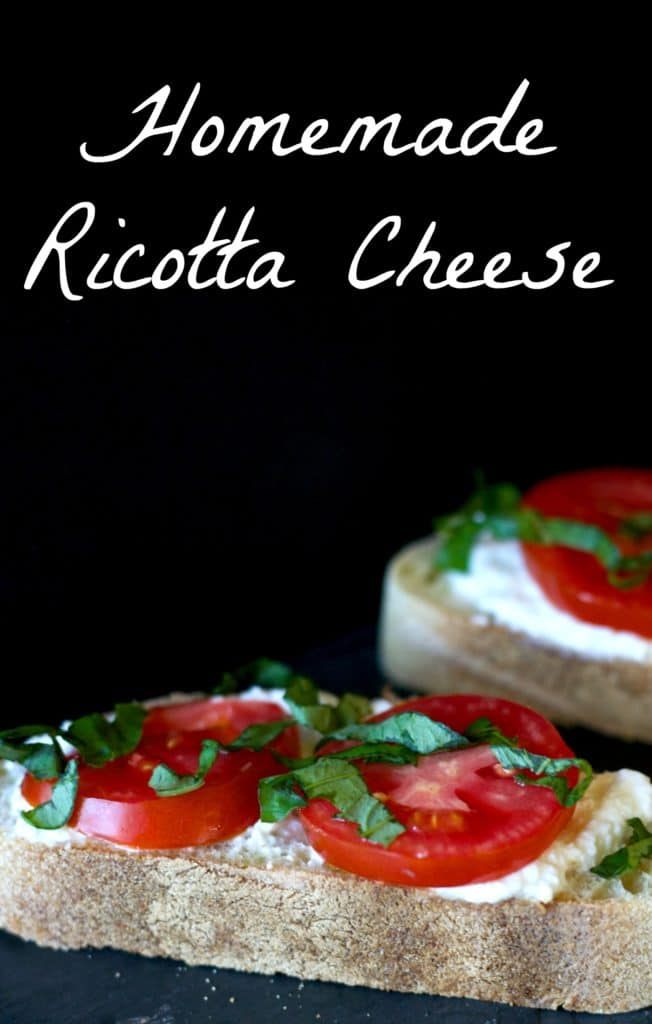 Going back to basics with this Homemade Ricotta Cheese recipe. It's really simple to make with only 4 ingredients and makes a great Meatless Monday meal.