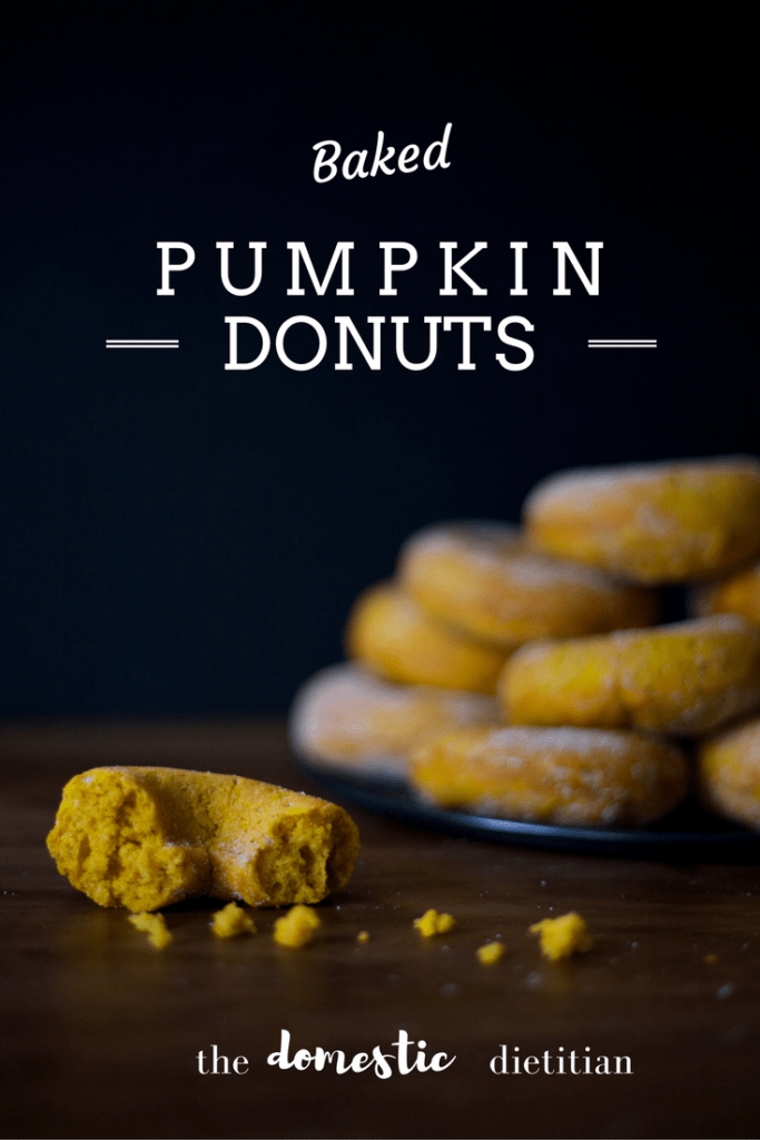 Light and Fluffy Baked Pumpkin Donuts using freshly ground Raw Spice Bar spices / The Domestic Dietitian