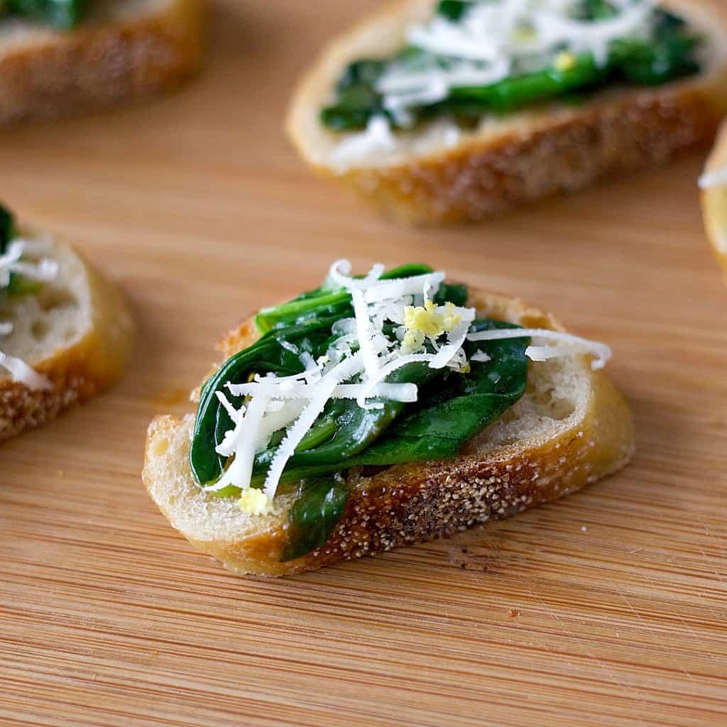 sautéed spinach crostini5