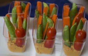 veggie hummus dip