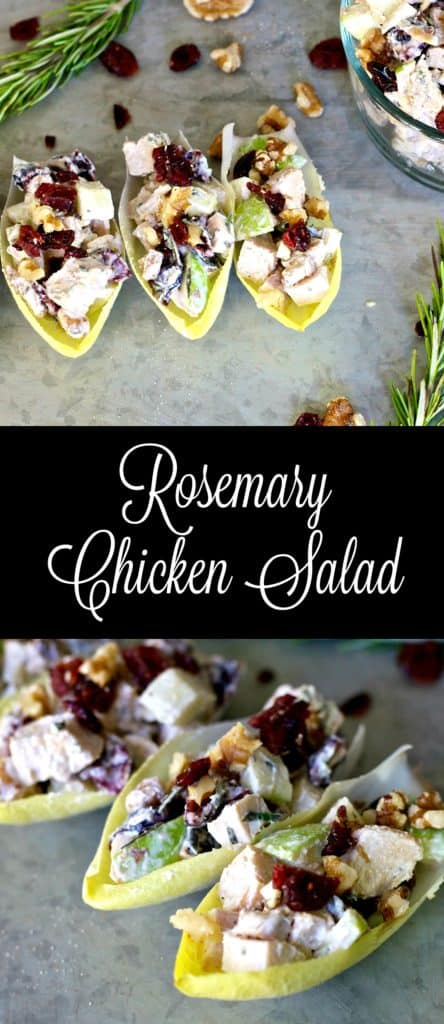 A light and healthy lunch idea, this Rosemary Chicken Salad recipe is simple to make and delicious to eat. It's budget friendly and can be made in advance!
