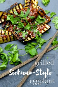 Grilled Sichuan-Style Eggplant recipe. Perfect for Meatless Mondays and an easy weeknight dinner dish.