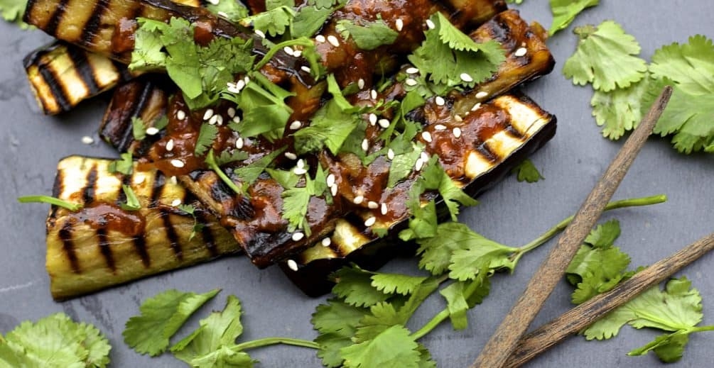 grilled sichuan-style eggplant