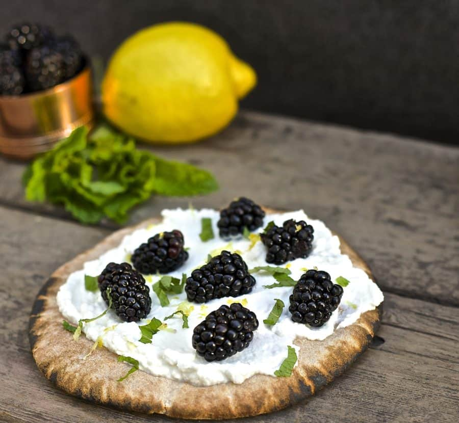 blackberry ricotta pita
