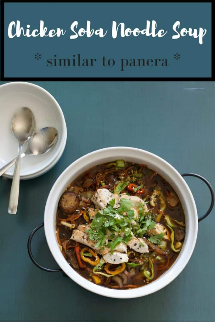 Chicken Soba broth based soup bowl - have it healthy at home. copycat to panera but less expensive and just as healthy and delicious