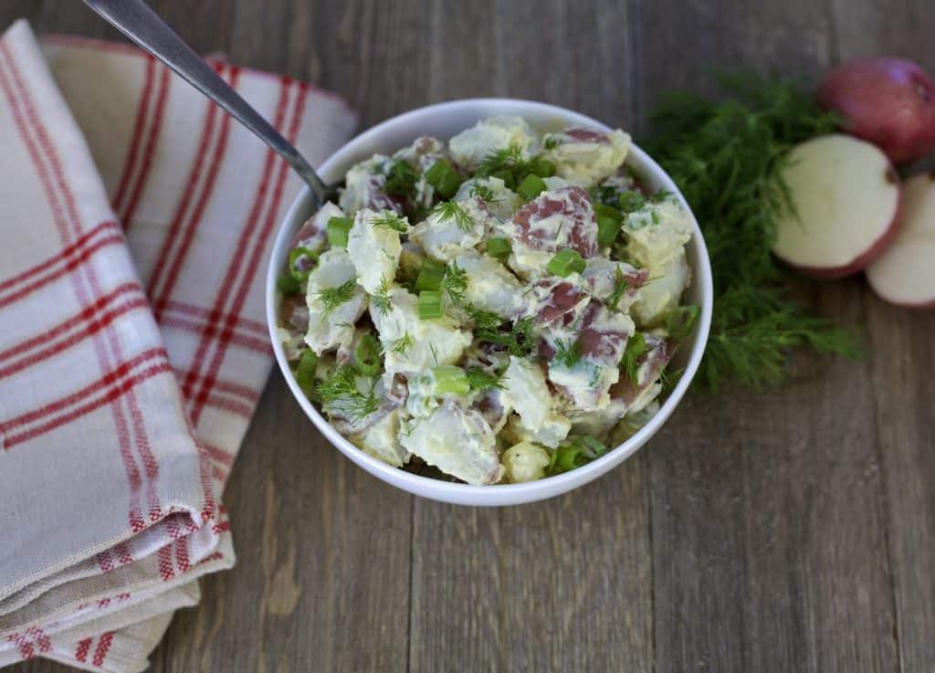 healthier creamy potato salad recipe1
