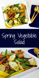 This fresh and crisp Spring Vegetable Salad recipe is packed with healthy, nutritious seasonal spring produce. Perfect for Meatless Mondays or lighter meals.