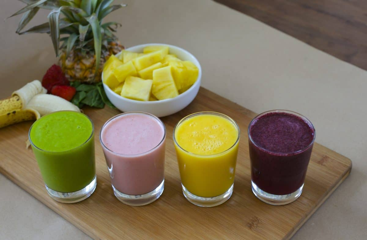 making healthy smoothies