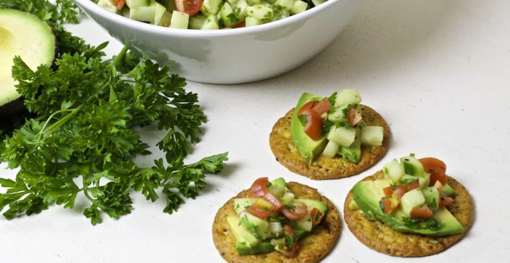 crackers with cucumber relish, easy summer entertaining