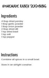 homemade spice mixes 4