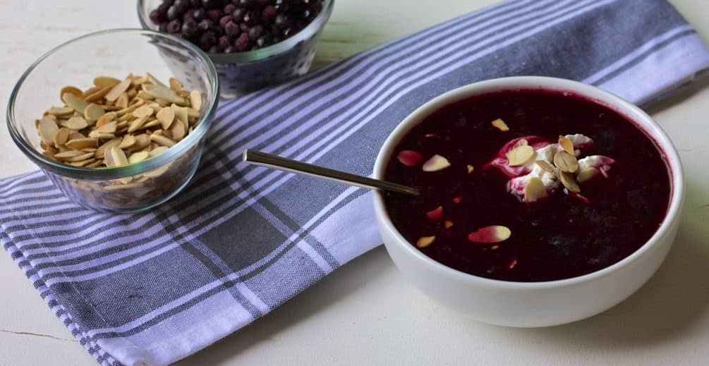 swedish blueberry soup
