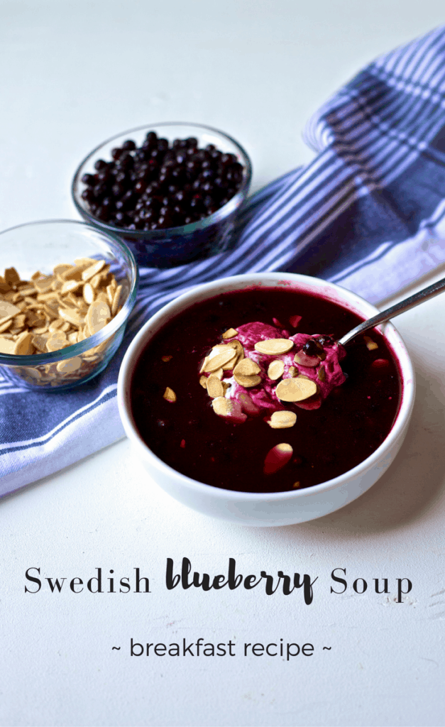 This Swedish Blueberry Soup recipe is a delicious and healthy breakfast idea and can be served warm on chilly mornings or also enjoyed cold.