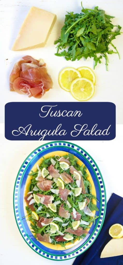 Tuscan Arugula Salad Recipe - This simple, 4 ingredient Tuscan Arugula Salad was one of my favorite dishes we had in Italy this summer. It's light, refreshing and delicious.