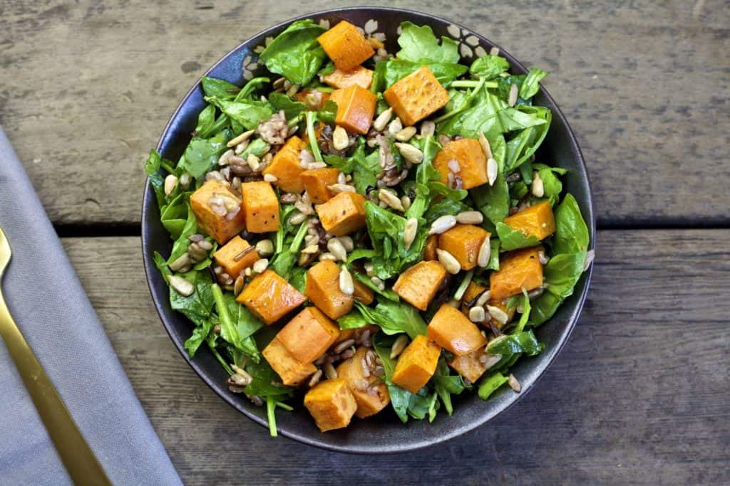 fall roasted sweet potato salad3