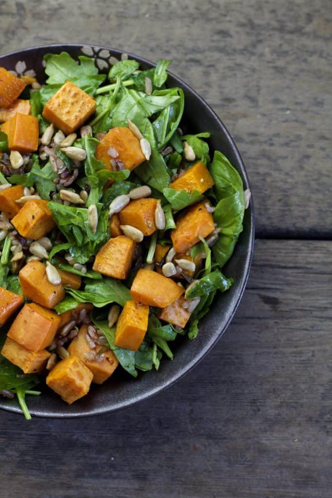 fall roasted sweet potato salad1