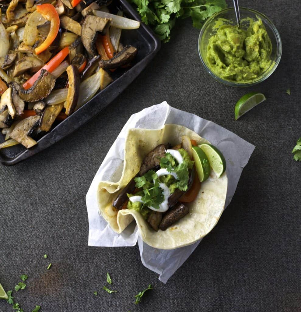 vegetable fajita sheet pan dinner2