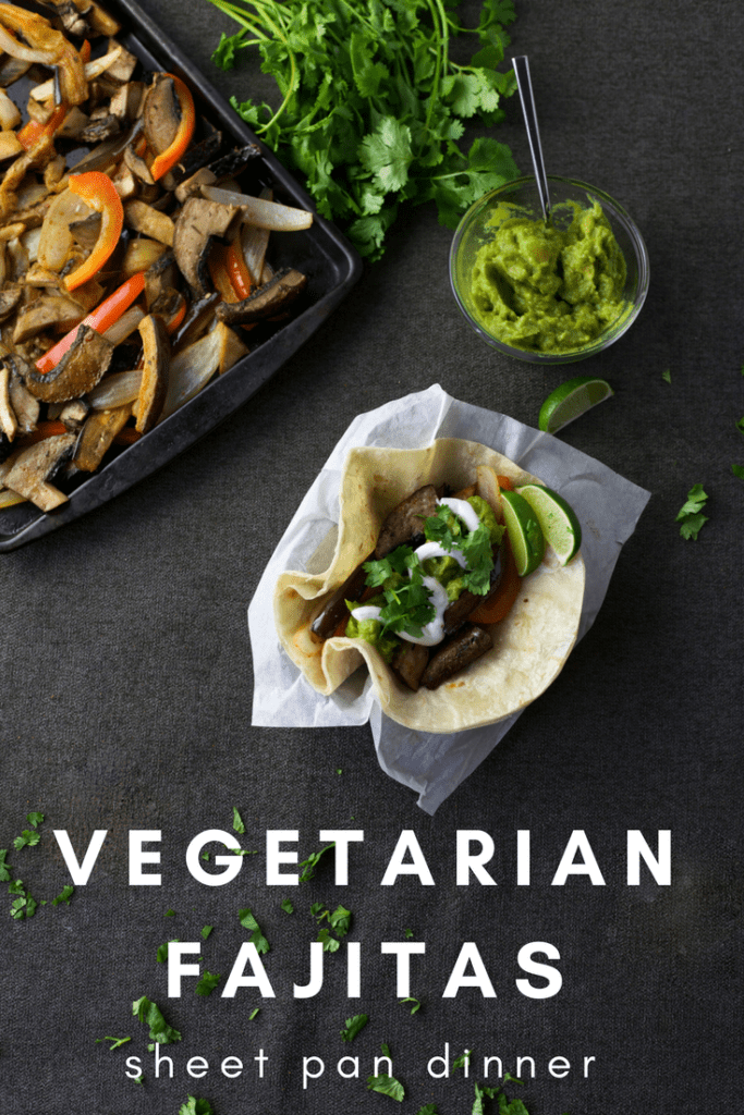 This Vegetable Fajita Sheet Pan Dinner recipe is simple, delicious and ready in less than 30 minutes. Did I mention it all cooks on a single sheet pan?