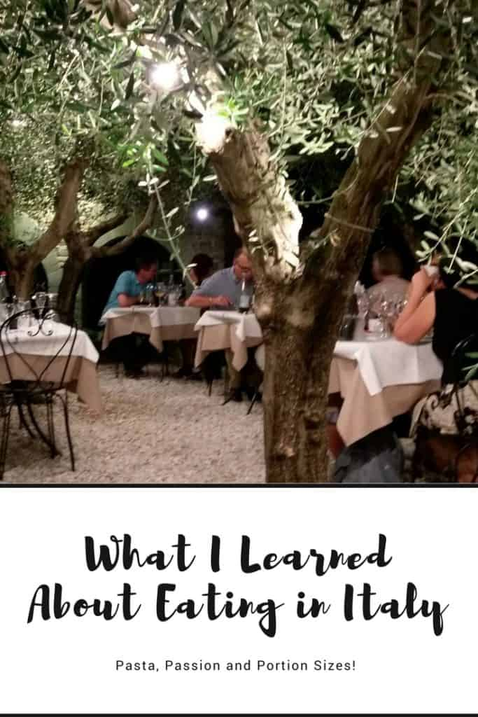 What I Learned About Eating in Italy - Sharing what a recent trip to Italy taught me about meals, food, portion sizes and what it means to truly enjoy your food.