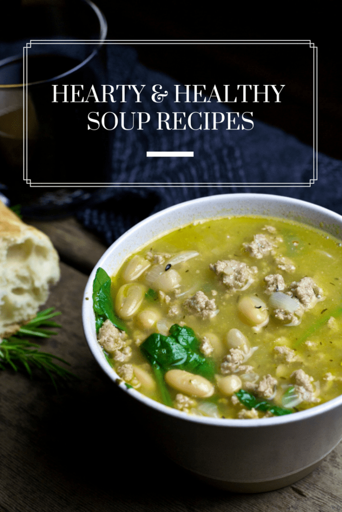 A collection of Hearty & Healthy Soup recipes that are filling enough to stand alone as a meal. Simple to prepare and full of flavor, these soup recipes are perfect all winter long. / The Domestic Dietitian