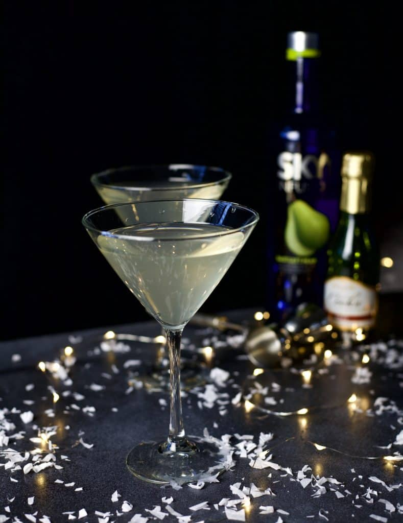 sparkling pear martini 1
