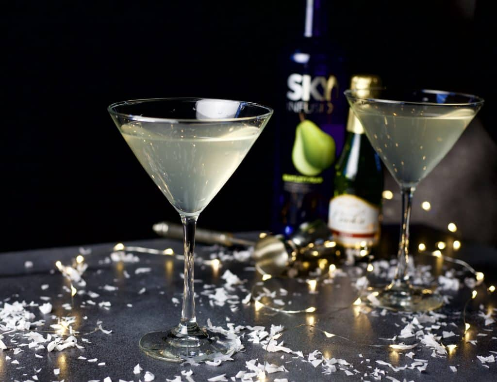 sparkling pear martini 3