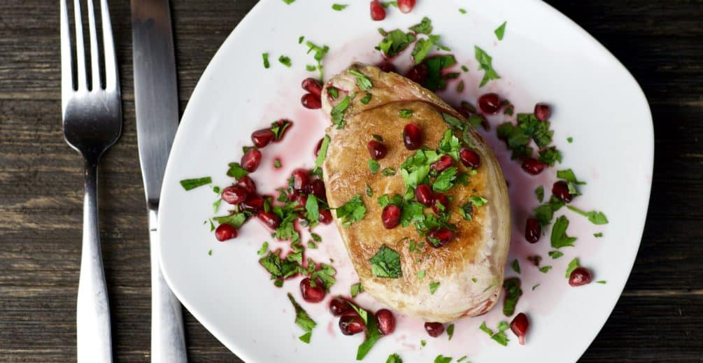 grilled pork chops with pomegranate sauce