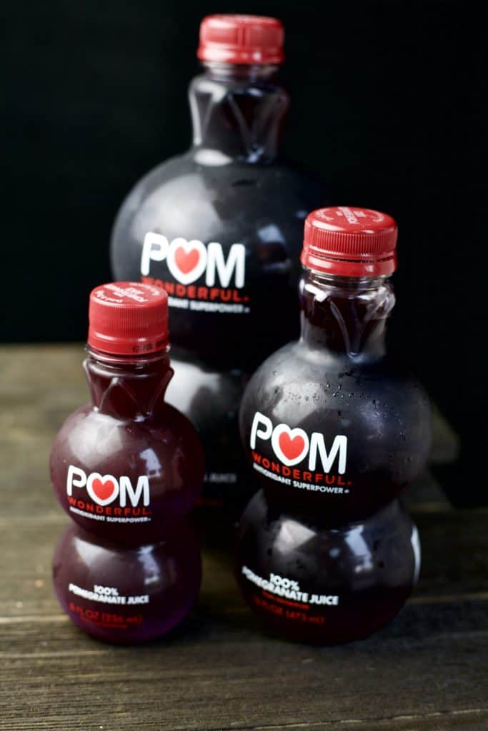 bottles of pomegranate juice