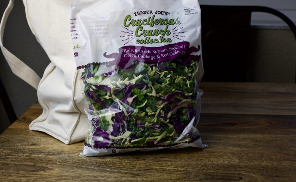 cruciferous crunchy collection bagged salad mix from trader joes