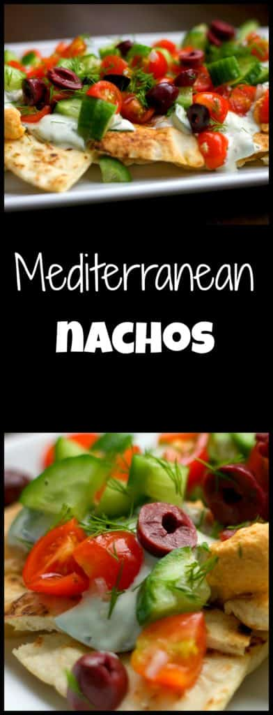 Mediterranean Nachos Recipe - so fresh, vibrant and easy to make! Healthy appetizer, lunch or snack. / The Domestic Dietitian