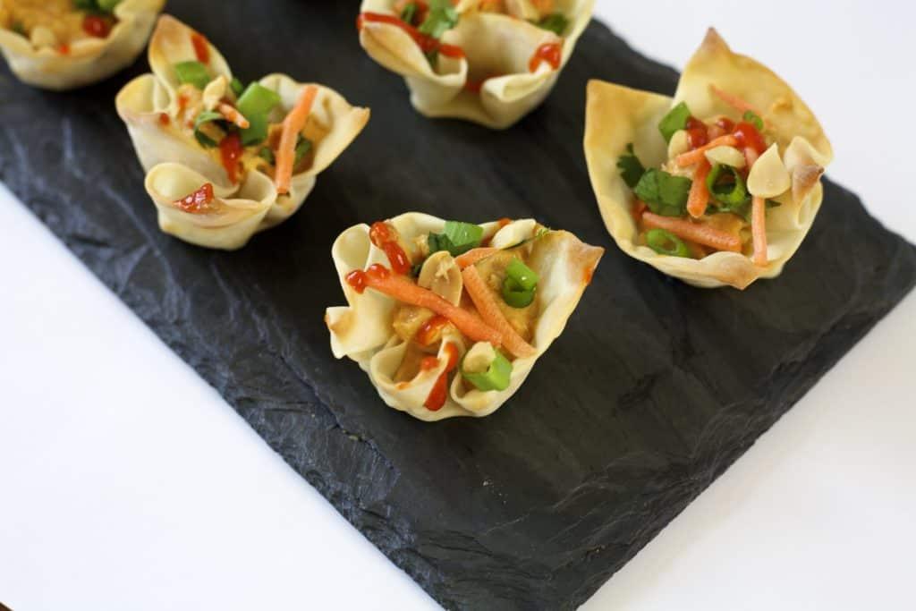Vegetarian wonton bites an easy appetizer idea the domestic vegetarian wonton bites3 forumfinder Gallery