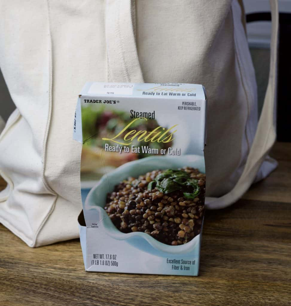 steamed lentils from trader joes