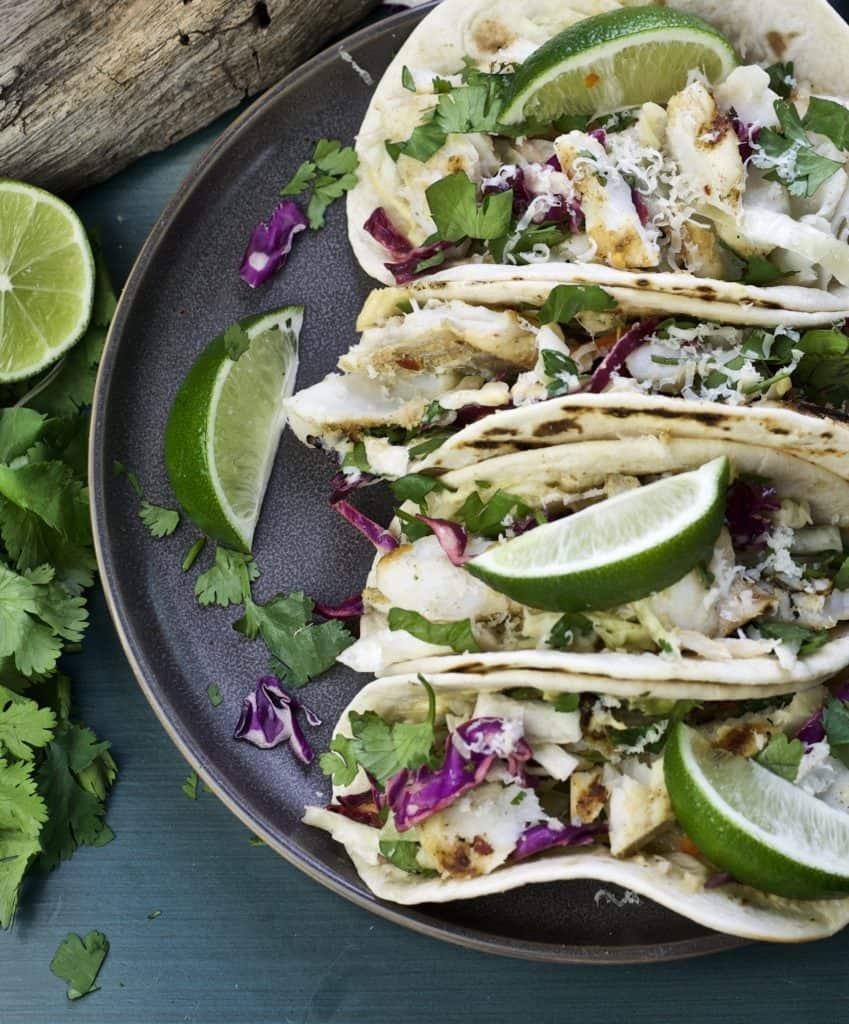 grilled fish tacos with jalapeño hummus2