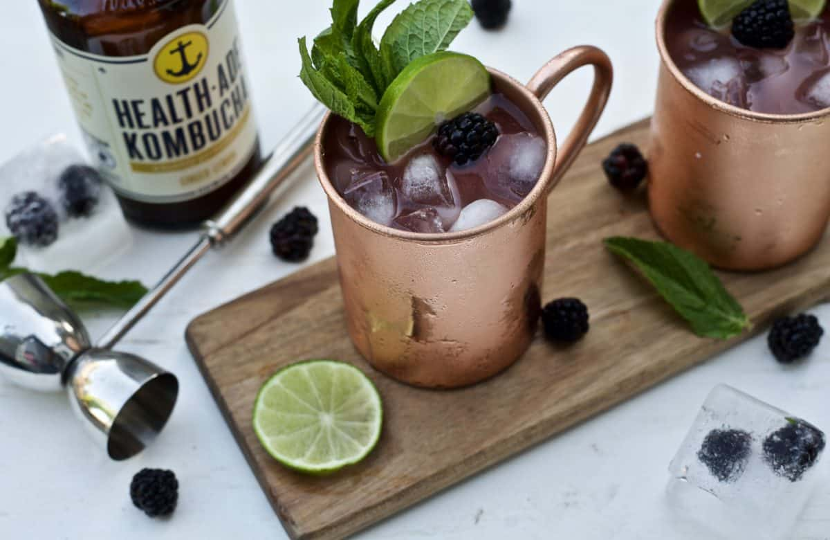 blackberry moscow mule a kombucha cocktail
