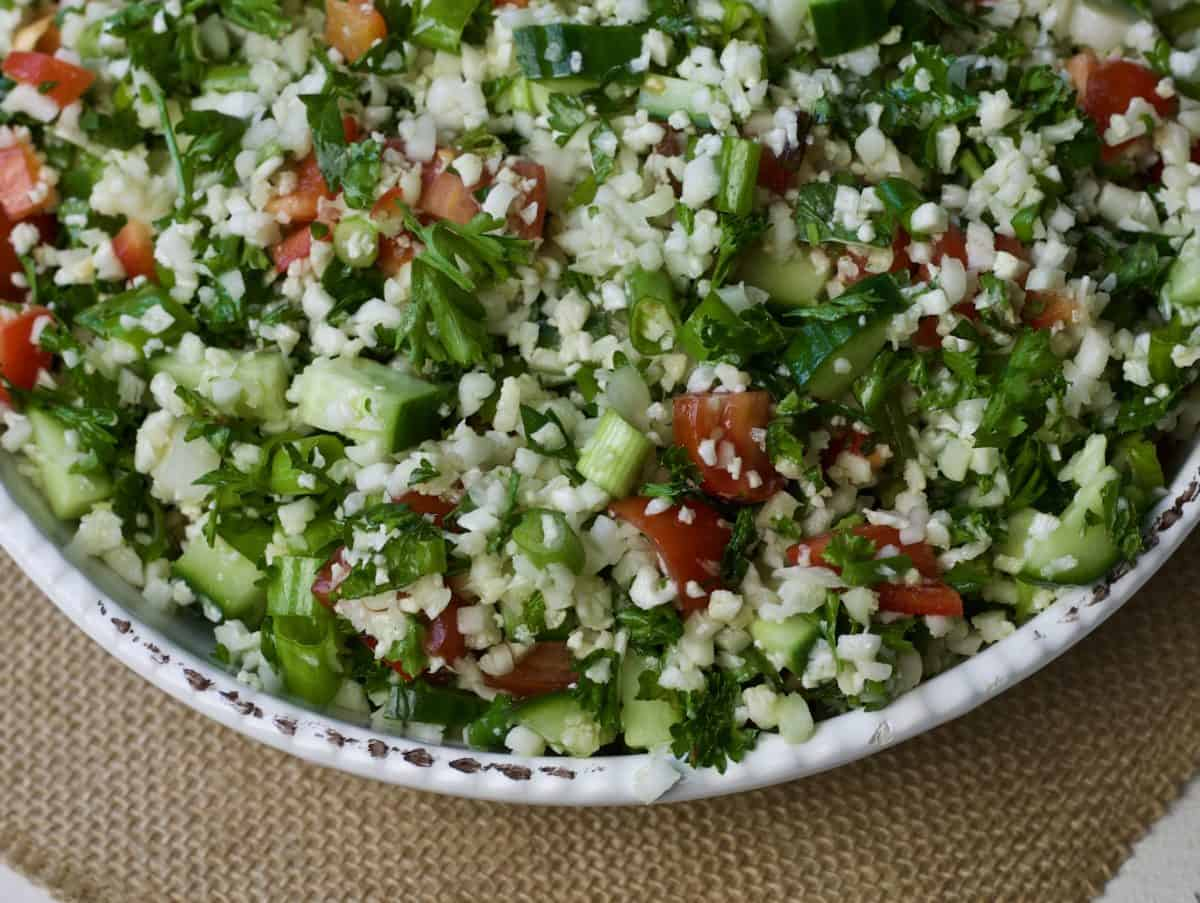 cauliflower rice tabbouleh
