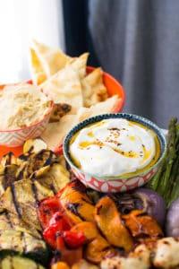 Grilled-Vegetables-Chicken-Spicy-Yogurt-Sauce-4