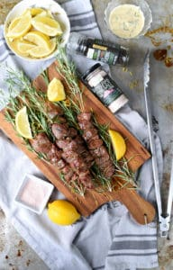 lamb rosemary skewers