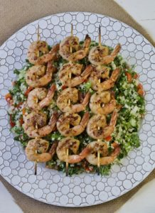 spicy grilled shrimp kebob